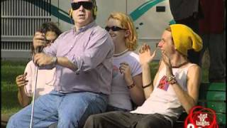 Just For Laughs TV - Blind Man Sits On People Prank
