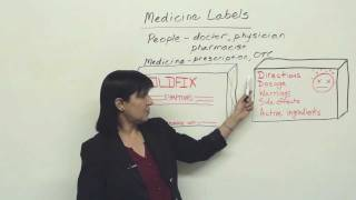Understanding Medicine Labels, Practical English