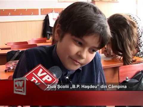 """Ziua Școlii """"B.P. Haşdeu"""" din Câmpina"""