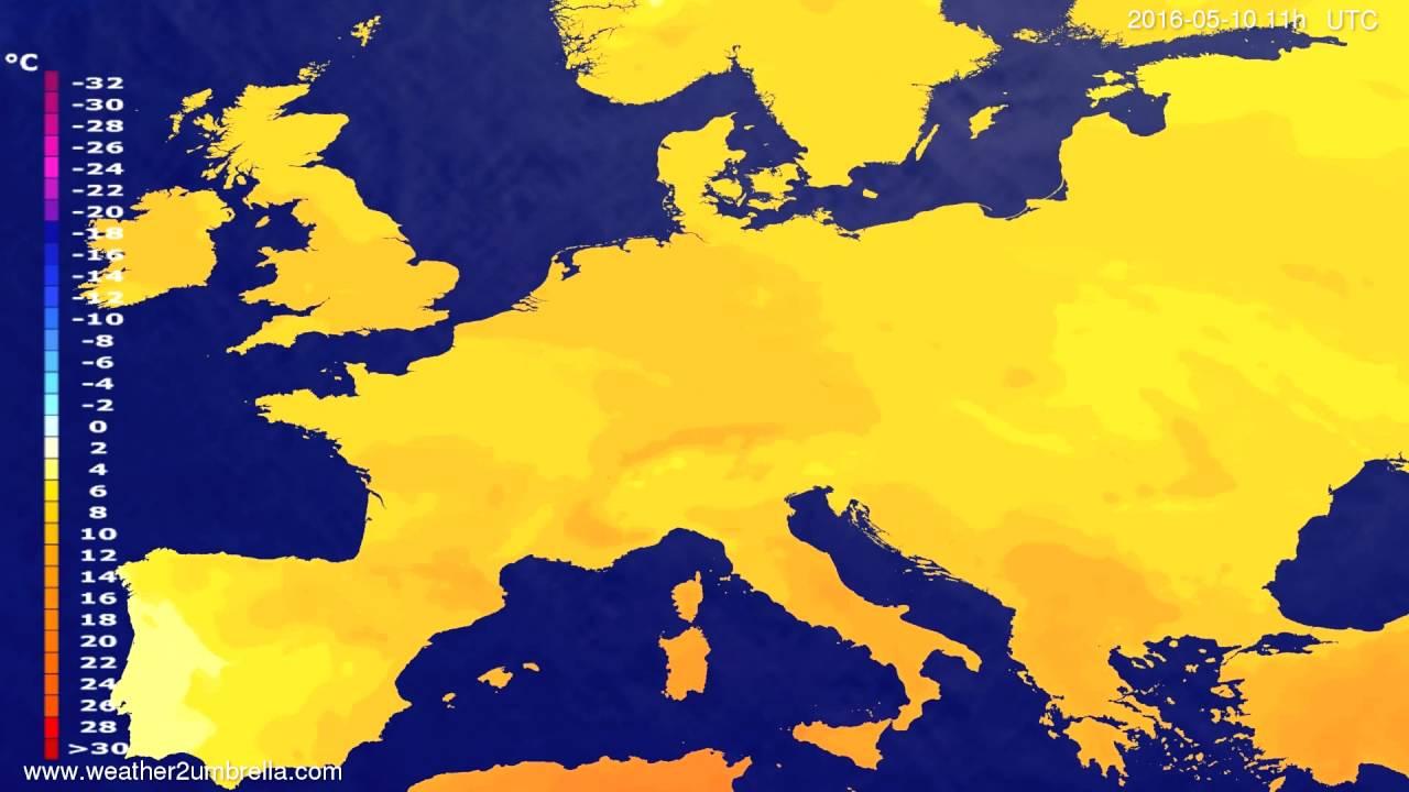 Temperature forecast Europe 2016-05-06