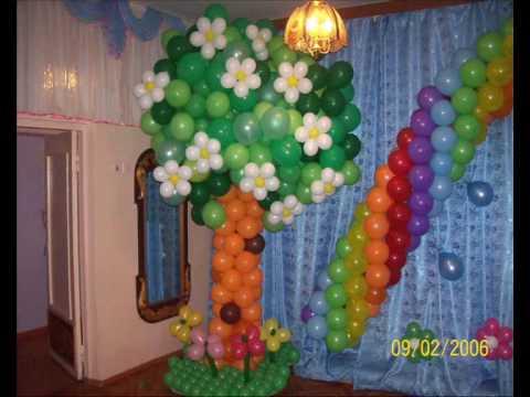 Гирлянда из воздушных шаров своими руками видео