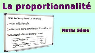 Maths 5ème - La proportionnalité Echelle Exercice 3