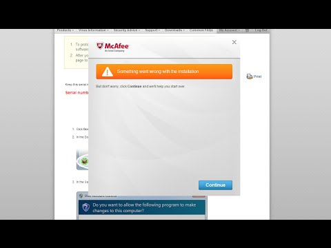 comment installer mcafee