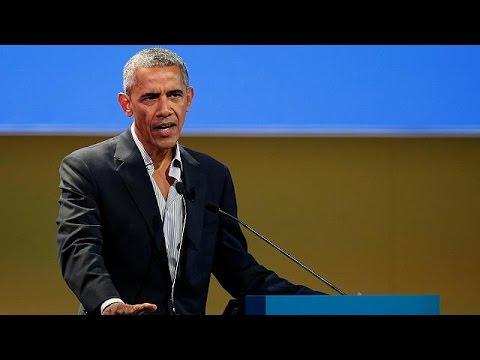 Ομιλία του Μπαράκ Ομπάμα στο Μιλάνο κατά της κλιματικής αλλαγής