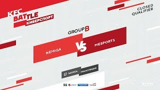 Nemiga vs MeSports, KFC Closed Qualifier, game 2 [Godhunt, NS]