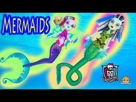 Monster High MERMAIDS Great Scarrier Reef 2016 Movie Dolls Frankie Lagoona Unboxing - Cookieswirlc