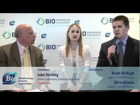 BIOchannel - John Sterling of Genetics Engineering & Biotechnology News interviews Kevin McHugh and Jill Goldstein, GENTEN Award winners.