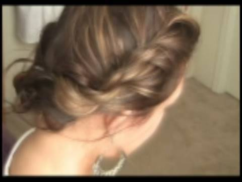 Bohemian Twist - Quick Easy Updo Hairstyle. Time: 3:43