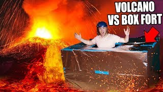 BOX FORT Vs VOLCANO CHALLENGE! 🔥