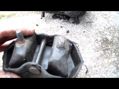 Install new motor mount on 1984 Pontiac Iron Duke