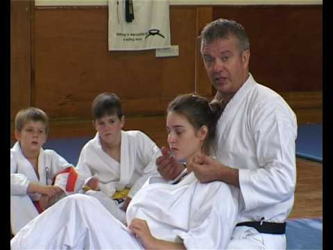 Tom Hill's Karate Dojo; Fighting Rear Naked Choke Jap Strangle