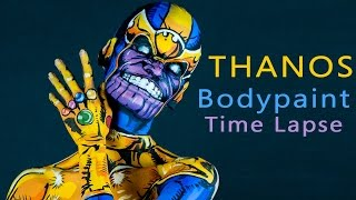 Thanos bodypaint timelapse 10000% speed