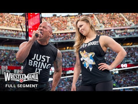 Video FULL SEGMENT - The Rock and Ronda Rousey confront The Authority: WrestleMania 31 (WWE Network) download in MP3, 3GP, MP4, WEBM, AVI, FLV January 2017