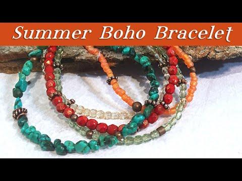 Summer Gypsy Bracelet-Beaded Jewelry Tutorial