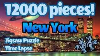 12000 piece Ravensburger puzzle time lapse
