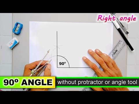 Draw right angle without protractor 90 degree angle