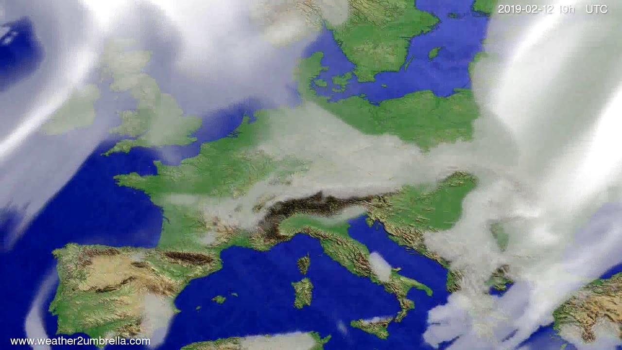 Cloud forecast Europe 2019-02-10