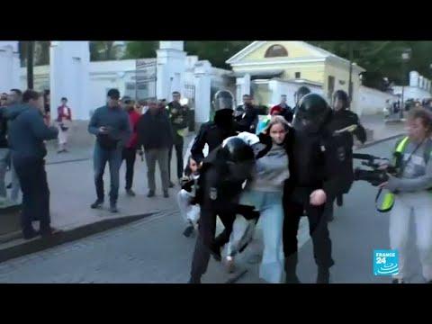 "Manifestations à Moscou : le Kremlin juge ""justifiée"" la fermeté de la police"