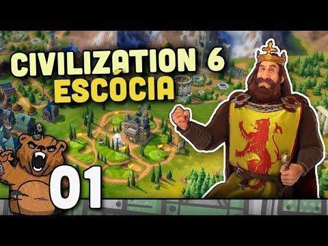 Robertinho no mapa Terra - Escócia #01  Civilization 6 - Rise and Fall Português PT-BR