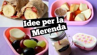 IDEE PER LA MERENDA ❤ RITORNO A SCUOLA CON ROXY