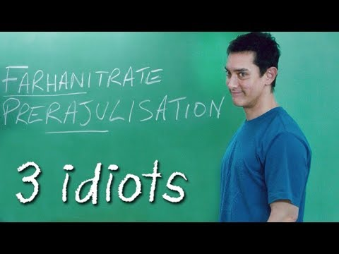 Aamir Khan as Professor | 3 Idiots - Comedy Classroom Scene