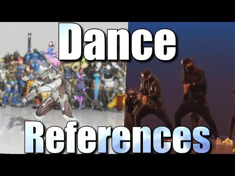 Overwatch Dance References [Side By Side Comparison]