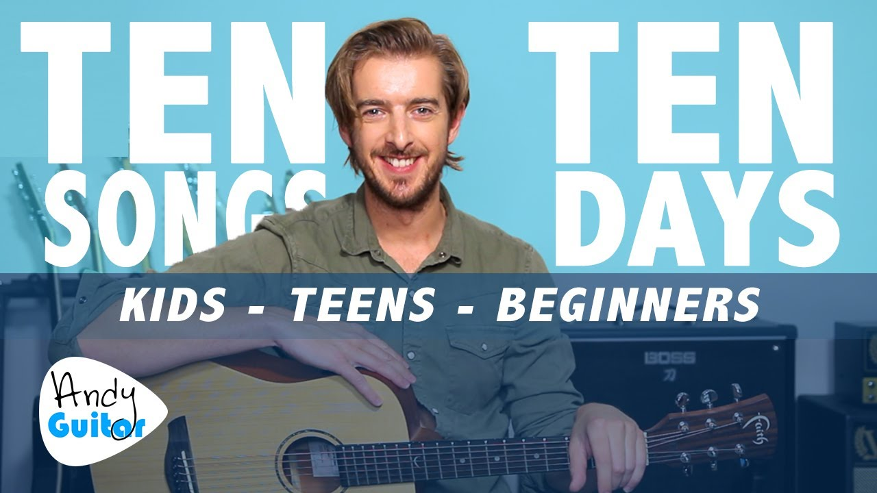 Guitar Lesson 3 for Kids // LEARN 10 SONGS IN 10 DAYS