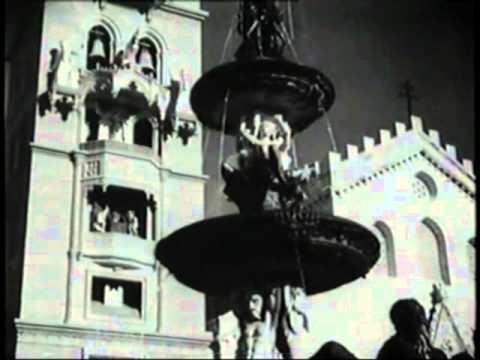 raro video: 1933 - inaugurazione dell'orologio del duomo di messina