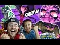 Team Doom Stone vs. Kaos & His Mom! Dad & Son Skylanders Swap Force Gameplay