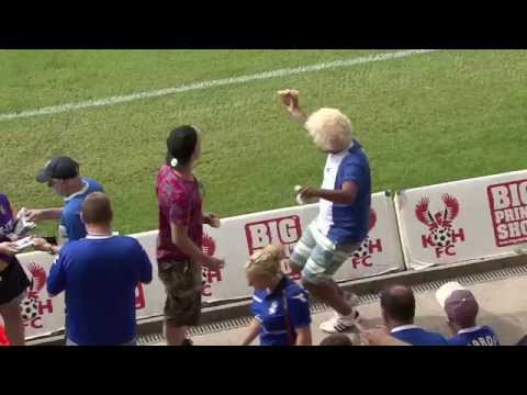 dancing - One Birmingham City fan enjoys himself ahead of a pre-season game against Kidderminster Harriers. Subscribe to Birmingham City Football Club: http://bit.ly/1e9FUNz About Birmingham City Football...
