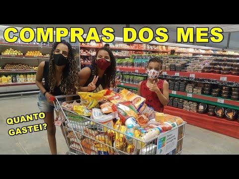 COMPRAS DO MÊS + QUANTO GASTEI NA ULTIMA COMPRAS DO ANO? #Compras