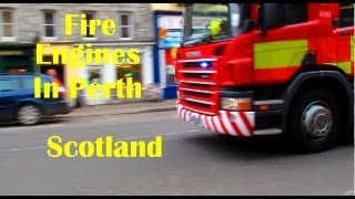 Perth United Kingdom  City new picture : Fire Engines In Perth Scotland UK