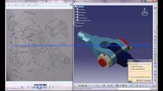 Catia V5 Tutorial|Product Engineering Design|How to Create Knuckle Joint(Easy Steps Beginners)|P3