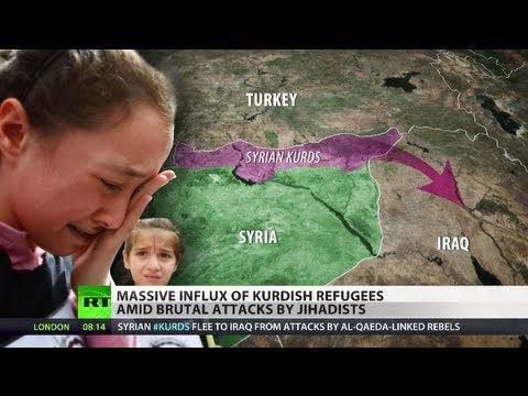 kurds - Iraq is facing an unprecedented influx of refugees - almost thirty thousand people have crossed its border with Syria since Thursday. The lion's share of tho...