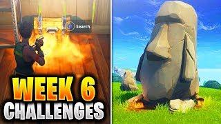 ALL WEEK 6 Challenges Guide Fortnite SEASON 5 (Fortnite Week 6 Challenges) Tutorial