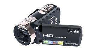 Video Unboxing and first impressions of the - Besteker HD 1080P 24MP 16X Digital Zoom Video Camcorder MP3, 3GP, MP4, WEBM, AVI, FLV Juli 2018