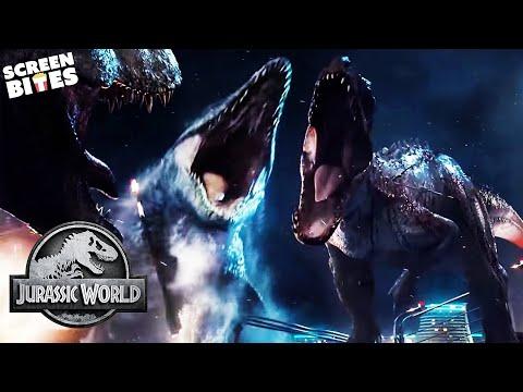 T-Rex vs Indominus Rex   Final Battle   Jurassic World   SceneScreen