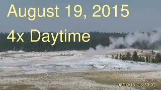 August 19, 2015 Upper Geyser Basin Daytime 4x Streaming Camera Captures