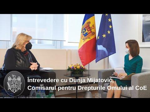 Președintele Maia Sandu s-a întâlnit cu Comisarul pentru Drepturile Omului al CoE, Dunja Mijatović
