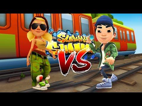 Subway Surfers Tricky VS Lee Shanghai Новая трасса (видео)