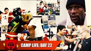 MAYWEATHER VS PACQUIAO CAMP LIFE: DAY 22 FLOYD ROUGHS UP SPARRING PARTNER; PACQUIAO BUYS MANSION