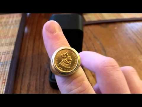 Men's gold Indian coin ring