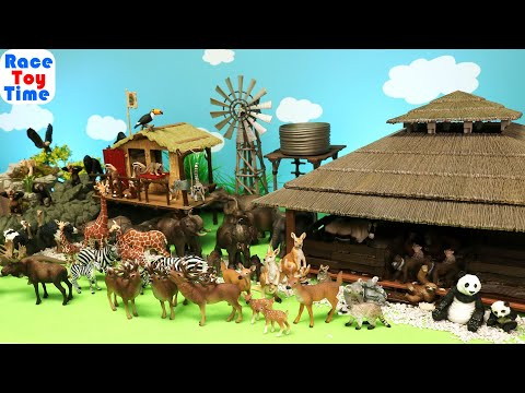 Schleich Wildlife Safari, Jungle and Forest Animal Toys Figurines