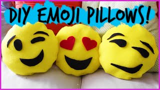 Easy DIY No Sew Emoji Pillows || #DIYwithPXB - YouTube