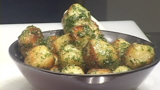 This video demonstrates a simple yet delicious version of this type of potato preparation.  The blanching of the potatoes in chicken stock prior to the sauté and roasting stages adds another dimension of flavor to the finished roasted potato.   Of course the butter, salt, pepper, parsley and rosemary are good examples of the classic French style for this type of preparation.  Of course the cook could change the type and shapes of different potatoes and still successfully impose this method and formula.   I would consider this type of preparation to be a common standard in basic potato cookery.