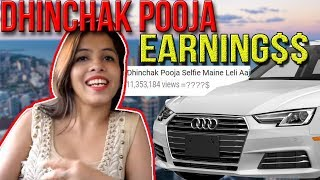 dhinchak pooja -the viral sensation(lol),singer of selfie mene leli aaj and baapu dede thoda cash and dilon ka shooter's EARNINGS revealed. (how much ad revenue she makes)you can troll this girl as much as you want to, but there is one thing for sure that your hate will only make this girl richer.people do all kinds of stuff to get famous and dhinchak pooja is a pro at making viral cringy music.so, the next time you see someone making fun of dhinchak pooja,just show them this video!ps-this is my last indian youtuber's earning video.video editing - SONY VEGAS PRO 11(cracked version hai)audio editing- AUDACITYgraphics-ADOBE PHOTOSHOP.facebook page -  https://www.facebook.com/mugshottedtweet me something-  https://www.twitter.com/nitishxpantinstagram - https://www.instagram.com/nitish.pantsong used @1:48 paisahttps://youtu.be/ydQtI30SbBgintro song by D12- my bandhttps://youtu.be/LCFz3isPdB4ignore the next line bros.dhinchak pooja exclusive interview roast the rawnkee showdhinchak pooja ft.interstellarswag wali topi-dhinchak poojadaaru daaru daarudhinchak pooja ko kyu pasand hai burgerindian idol audition screenpatti's bade chote