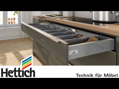 On the cutting edge: InnoTech Atira drawer system, made by Hettich