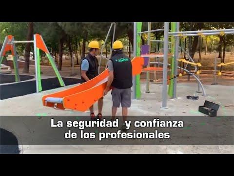 Vídeo sobre Proyecto llave en mano de un parque infantil inclusivo en Hortaleza, Madrid