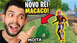 O MAIS TROLL?!? JÁ USEI O NOVO PERSONAGEM REI MACACO DO FREE FIRE!!!
