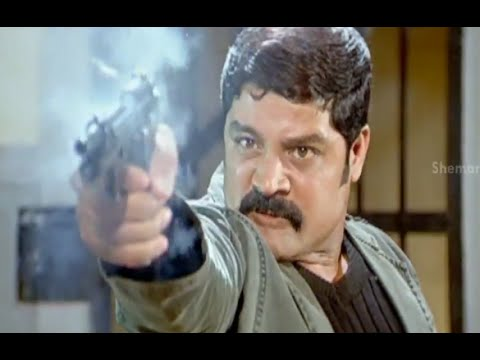 Badradri Full Movie Scenes - Srihari shoots all the police  who tries to kill him - Nikitha  Raja 28 July 2014 03 PM